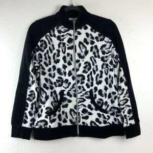Zenergy By Chico's Animal Print  Jacket 0 Black